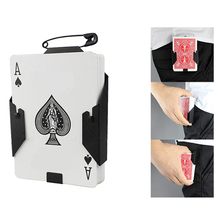 1pcs Manipulation Cards Clip poker holder Stage Magic Tricks BlackCard Device accessories for professional