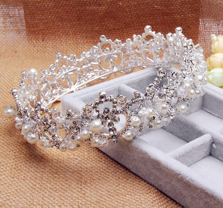 romantic crystal rhinestone tiara