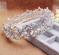 Romantic Crystal Rhinestone Tiara Nupcial Del Pelo Accesorios Party crown Pageant tiara Coronas Para Quinceañera Ronda de cabelo