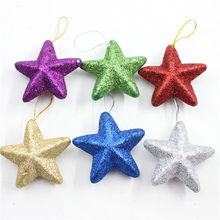 6pcs Polystyrene Styrofoam Foam stars color Craft For DIY Christmas tree Decoration Supplies Gifts