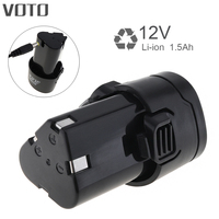 VOTO Universal 12V 1500mAh Li Ion Battery With Disconnect Button For Electric Drill Pistol Drill Electric