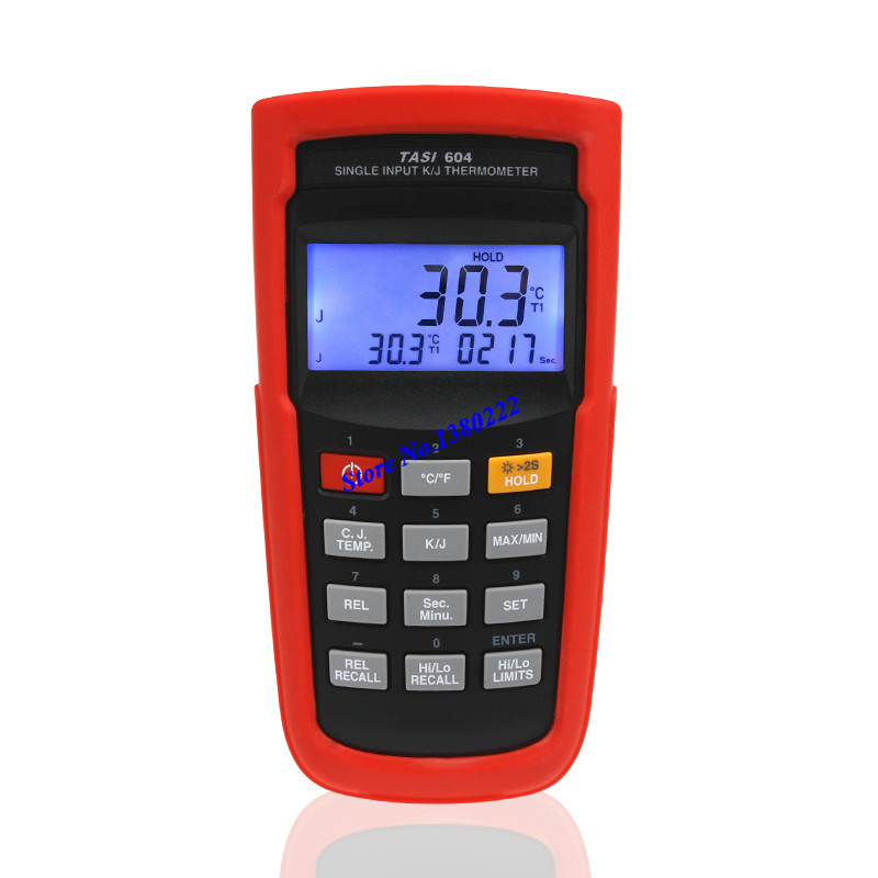 Highly accurate Single input thermometer TASI-604 K/J type thermocouple thermometer digital contact thermometer -200 to 1050C