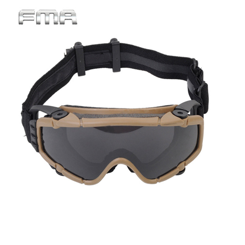FMA Tactical Goggles With Fan Glasses Airsoft Anti-fog Durable Nylon Protector For Paintball Outdoor Hunting Gear BK/DE TB886 pyramex venture gear pagosa sw518t anti fog
