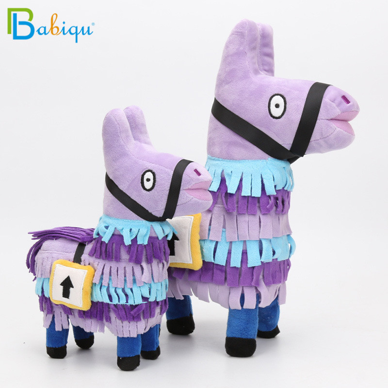 Babiqu 1pc 25/34cm Fortnite Troll Stash Llama Plush Toy Hot Game Soft Alpaca Rainbow Horse Stash Stuffed Doll Kids Birthday Gift