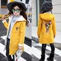 Детская одежда оптом девушка осень/зима новый Корейских детей в большой Британский пальто шерстяное пальто девушки