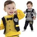 Anlencool 2017 frete Grátis do bebê ajustado Postura Cereal Infantil Europeia versão da Nova Primavera Falso Conjunto de Roupas de Bebê Falso três
