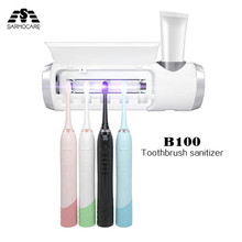 Sarmocare B100 Toothbrush sterilizer UV lamp sterilization Family Pack electric Toothbrush Head Cleaner Toothpaste Holder