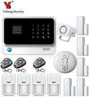 Free DHL Touch Screen Keypad OLED Display WIFI GSM GPRS IOS Android APP Wireless Home Burglar