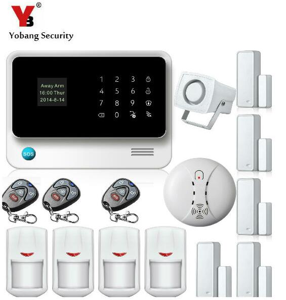 Yobang Security Wireless GSM Wifi Alarm System Home automation Alarma Cases System Smart Alarm Domotica Home Security Systems yobang security gsm wifi auto dial home alarm system rfid tags intelligent alarma kits glass break sensor strobe siren sensor