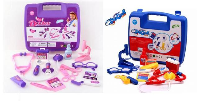 2 Colors Kids Child Pretend Play Doctors Toys Girls And Boys Birthday Gifts Iterative Doctor Nurse Games With Medicine