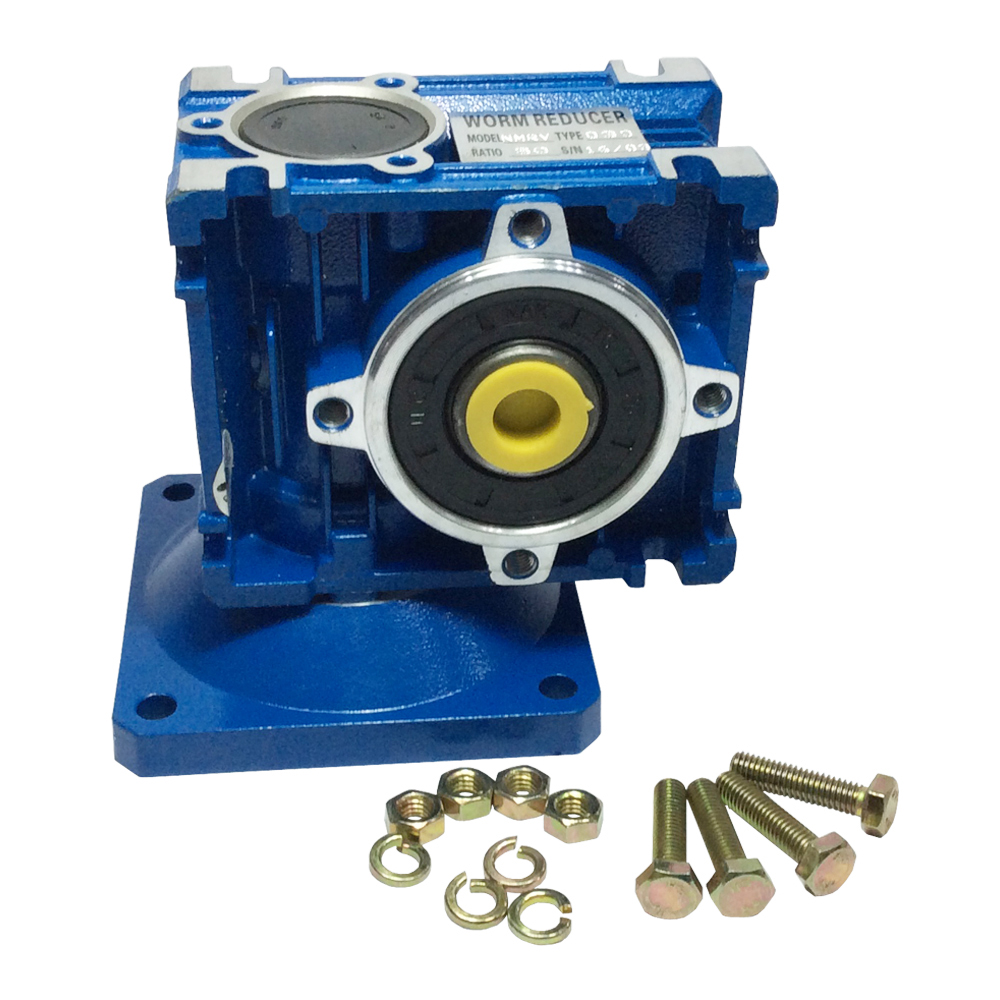 Right Angle Gearbox Geared Speed Reducer RV030 Ratio 1/7.5 1/10 1/15 1/30 1/40 1/50 1/60 1/80 1