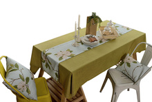 YO HOOM Kitchen Cotton Tablecloth Tablecover Coffee Table Cloth Table Cover Simple Yellow yo hoom kitchen cotton tablecloth tablecover coffee table cloth table cover simple blue color optional