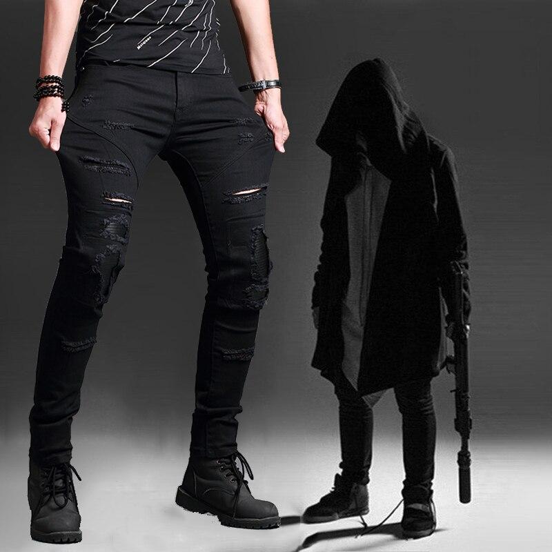 Assassins Creed Hoodie Long Sleeve Hooded Shawl Black Hooded Windbreaker Street Mens Hole Jeans Super Slim Brand Name Designer