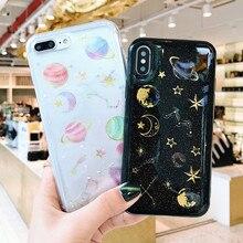Bling Shining Moon Planet Glitter TPU Case For Huawei P8 lite 2017 P9 P