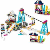Bausteine Kompatibel mit legoing Freunde Ziegel Prinzessin Schnee Resort Ski Lift spielzeug für kinder unterstützung Dorpshipping