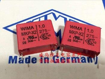 2019 hot sale 10pcs/20pcs Germany WIMA MKP-X2 275VAC 1.0UF 1UF 275V 105 P: 22.5mm Audio capacitor free shipping цена 2017