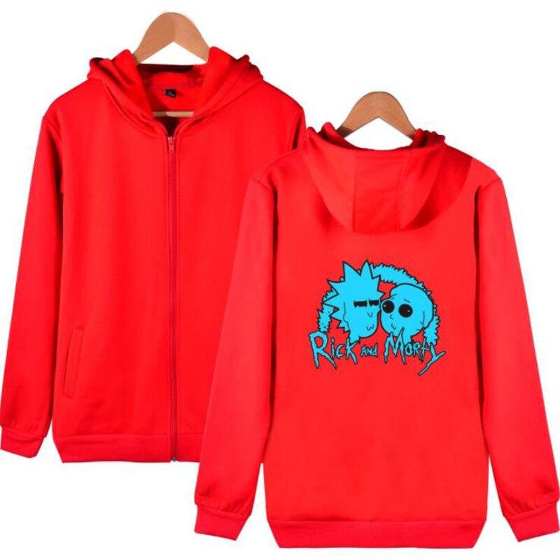 Cartoon Rick and Morty Hoodie Men Sudaderas Hombre Hip Hop Streetwear Leisure Zipper Jacket Hooded Sweatshirt Slim Fit Men Hoody