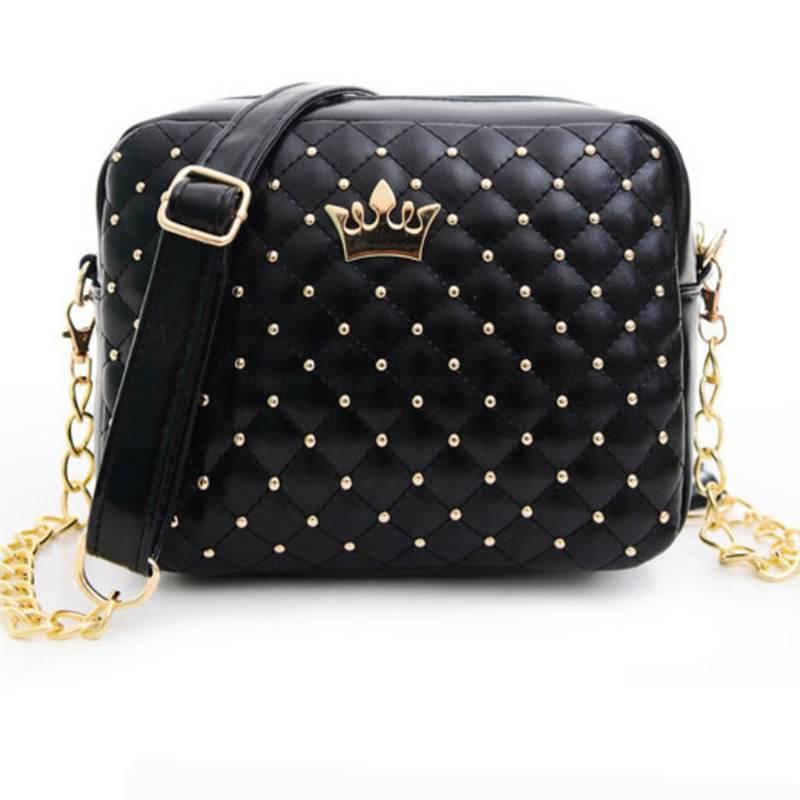 Excellent Quality 2017 Womens Bag Fashion Women Messenger Bags Rivet Chain Shoulder Bag High Quality PU Leather Crossbody SA027