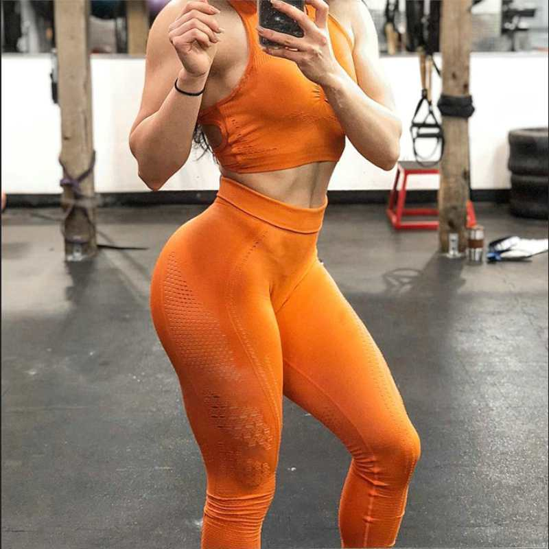Women-New-Flawless-Knit-Tights-Gym-High-Waisted-Seamless-Leggings-Eyelet-Knit-Fitness-Yoga-Pants-Girl (2)_conew1