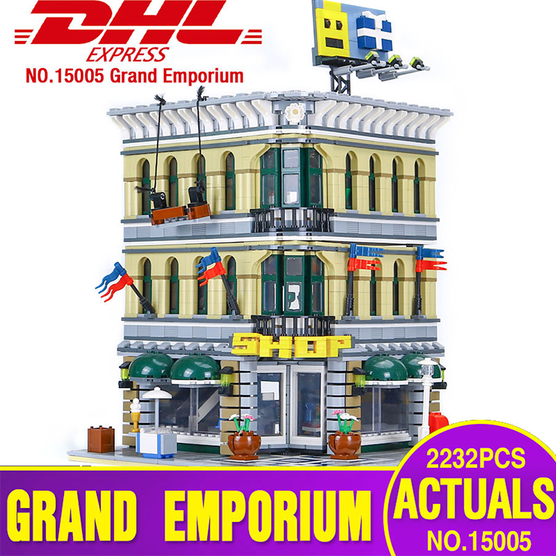LEPIN 15005 City Grand Emporium Model Building Blocks Kits Brick Educational Toy Compatible With legoing 10211 Children Gifts lepin 15018 3196pcs creator city series sunshine hotel model building kits brick toy compatible christmas gifts
