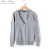21 Colors New Women Cardigan Knitted Coat Long Sleeve Crochet Solid Color Female Sweater Casual