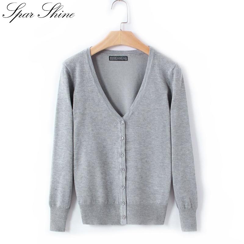 21 Պինդ գույներ նոր սվիտեր Կանացի կարդիգաններ Տրիկոտաժե սվիտեր բաճկոն Երկար թևով կոկով կոկիտ կանացի պատահական V-պարանոց կին կարդիգաններով վերևներ