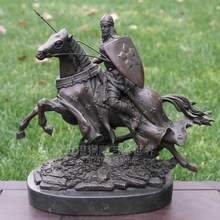 Knight bronze horse copper sculpture handicraft decoration decoration Home Furnishing Shanghai sculpture art world недорого