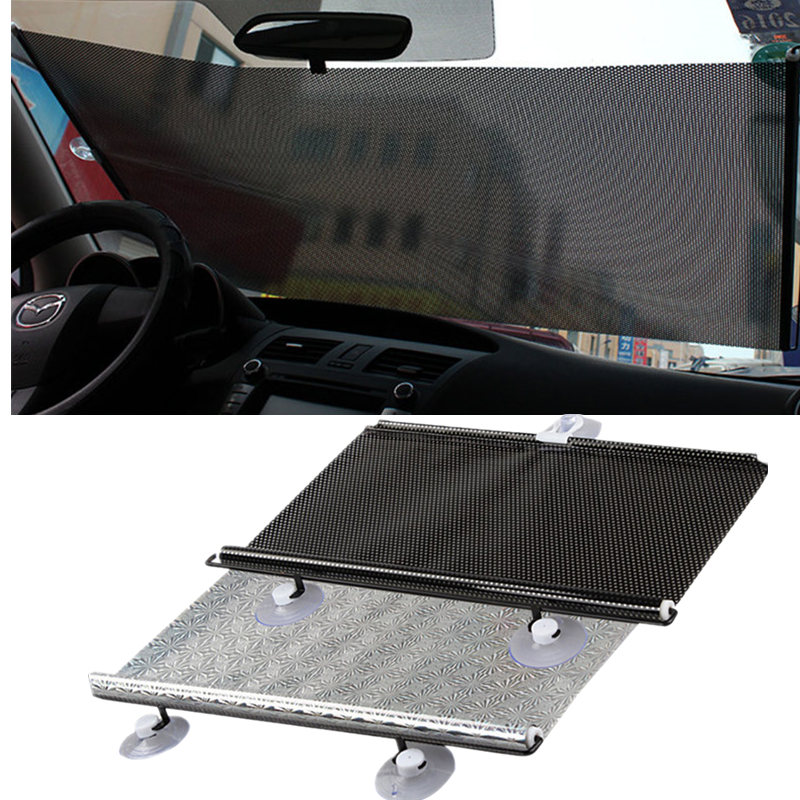 GSPSCN Retractable Car Front Rear Side Window Sunshades PVC Auto Windows Sun Shade Anti-UV Protection Sun Visor For any Car