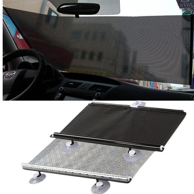 Gspscn 개폐식 자동차 앞면 뒷면 창 차양 pvc 자동 창문 차양 방지 자외선 차단 태양 바이저
