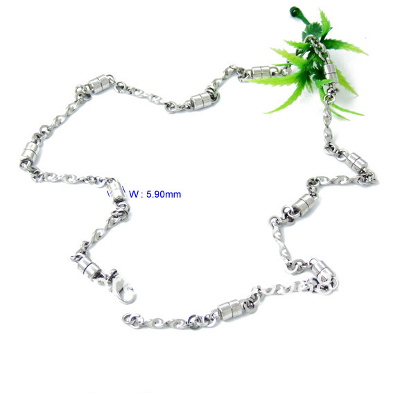 Free Shipping 1pcs/lot Mens Urban chic Jewelry 42cm Plain Link Chainmail 316L Stainless Steel Necklace NE06182