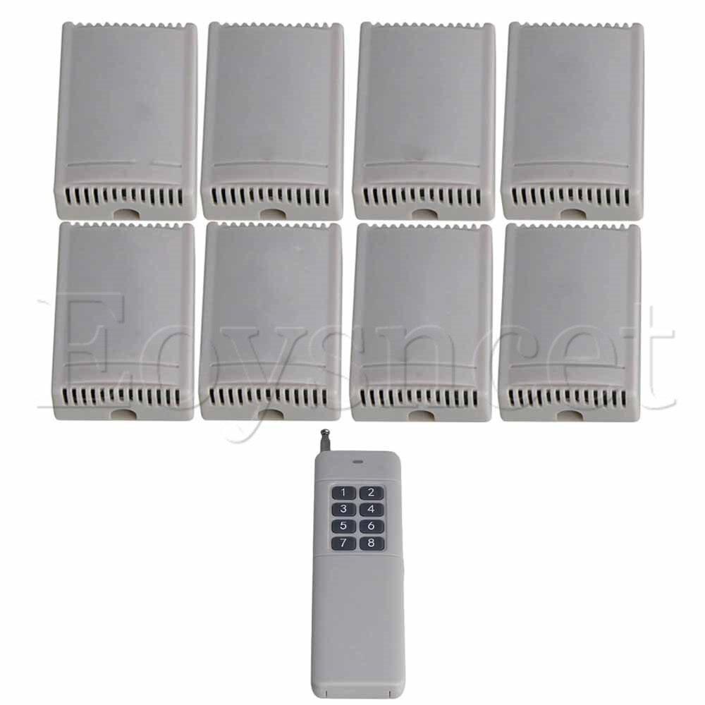 433MHz 1CH Remote Transmitter 8Key 8 Receiver 220V Self-lock Inching