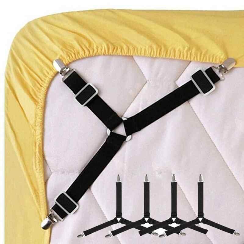 1 pc ปรับเตียงแผ่นคลิปฝาครอบ Grippers ผู้ถือที่นอนผ้านวมผ้าห่มสายรัดยึดกันลื่นเข็มขัด