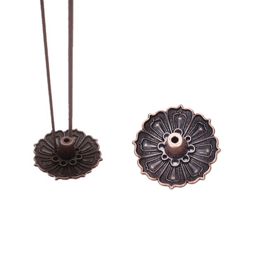 1 Pcs Lotus Flowers Pattern Incense Burner Stick Holder Incense Base Plug Home Decoration