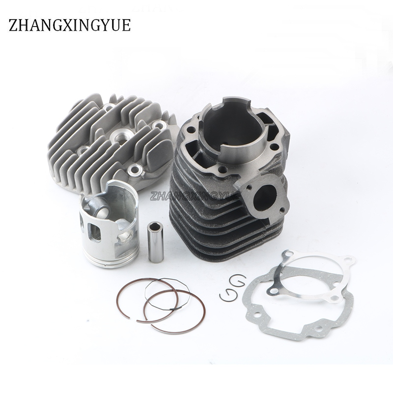 52mm  100cc Set of cylinder sets + cylinder head cover for MBK Booster 100 Nitro, Ovetto 100 Piston pin 14mm starpad for qianjiang 150 sets of circular blade cylinder combination sets of cylinder piston assembly