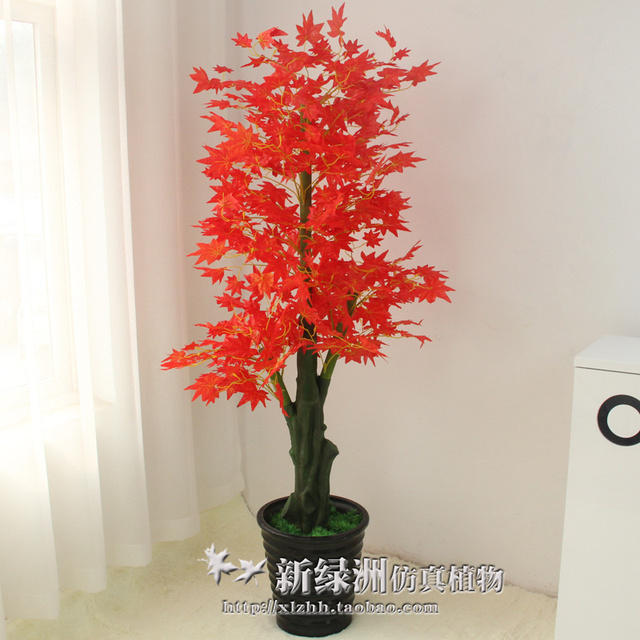 artificial flowers potted plastic fake tree fall flower plants
