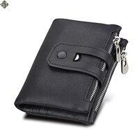 Новый Дизайн брендовые мужские кошельки 100% натуральная кожа кошелек с держателем для кредитных карт мужской кошелек на молнии карман для м