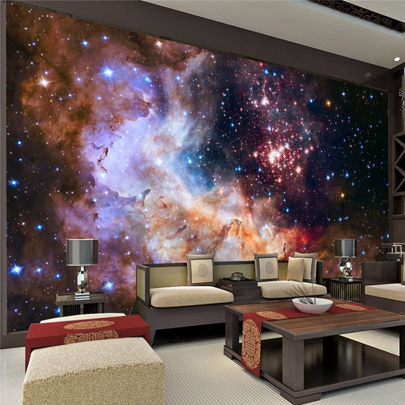 photo wallpaper Custom Wall paper 3d papel de parede Starry Night Wall  Mural Art Painting Hoom. Popular Starry Night Bedding Buy Cheap Starry Night Bedding lots