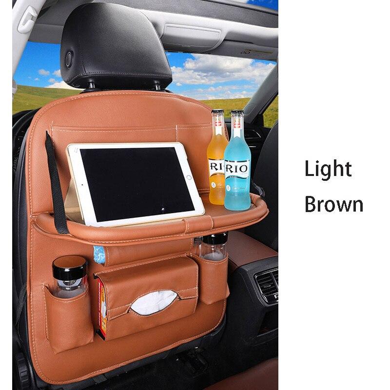 Дропшиппинг, чехлы для автомобиля, дизайн, модное автомобильное сиденье, для хранения, стильная многофункциональная сумка на заднюю часть, детское сиденье, для покупок, для автомобиля - Цвет: Premium light bworn