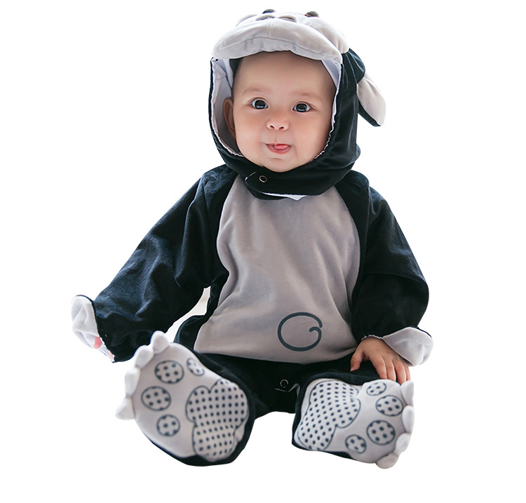Chimpanzee Costume Gorillas Cosplay Breathable Hooded Rompers