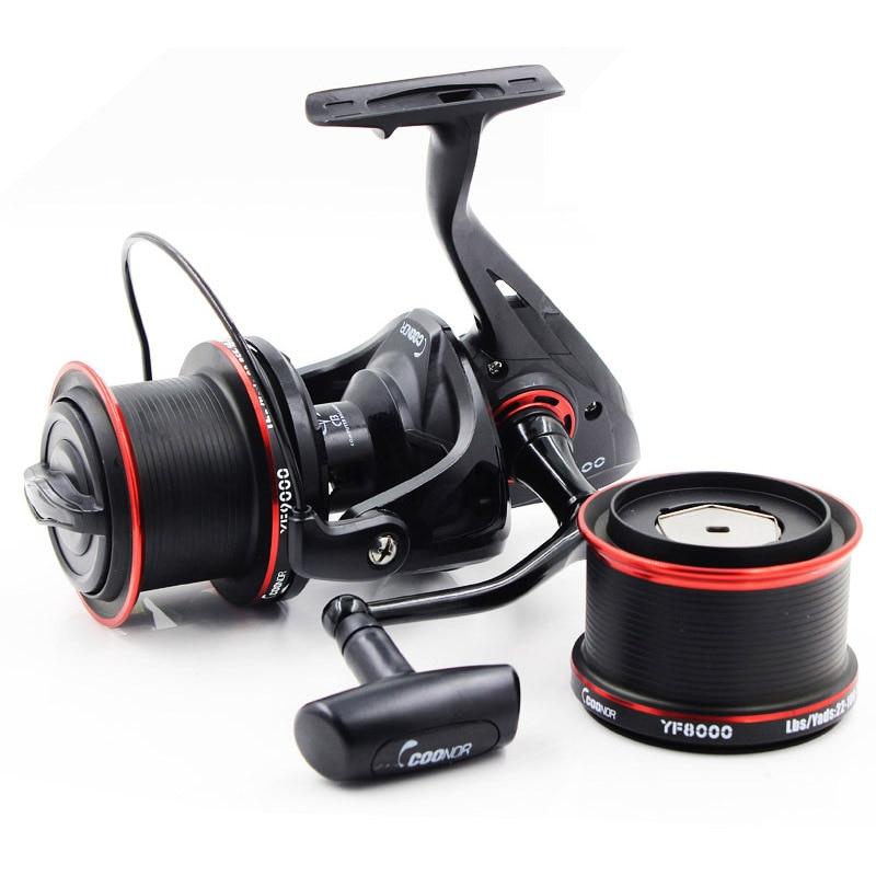 8000 9000 Series Fishing Reel Two Spools 11BB Long Shot Wheel Spinning Reel Boat Fishing Salter Water Carp Fishing B169 salter