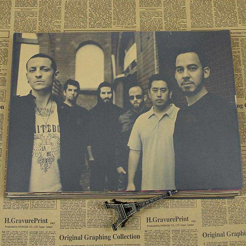 ACCOGLIENTE MOMENTO Linkin Park Rock Band Musica Poster Vintage Retro Matte Kraft Carta Antico Poster Wall Sticker Home Decor QT235