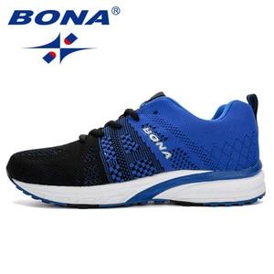 Image 5 - BONA החדש ריצה נעלי נשים נעלי ריצה לנשימה רשת שרוכים חיצוני אימון כושר ספורט נעלי נקבה