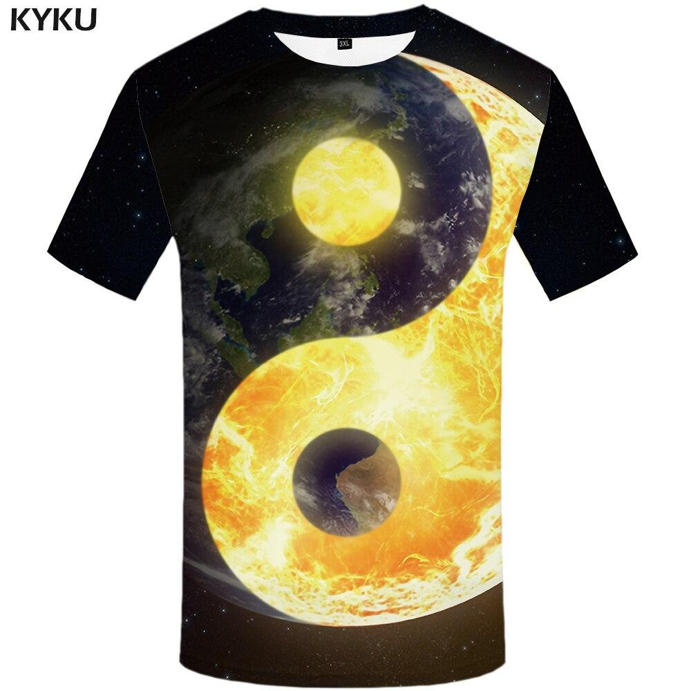 KYKU Brand Lightning T shirt Men Blue Space T Shirt Water 3d Printed Tshirt Hip Hop Tee Anime Mens Clothing Summer Casual Tops in T Shirts from Men 39 s Clothing