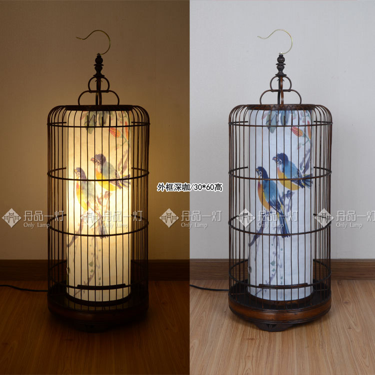 Bamboo Bird Cage Chinese Garden Floor Lamp Korean Hotel Dining Room Chandelier Bedroom With Furnishings Spa On Aliexpress Alibaba Group