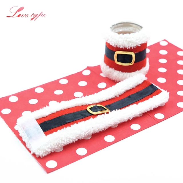 3pcs Christmas Santa Napkin Cover Rings Napkin Holders Ring Diy Home