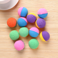 12Pcs Colorful Cat Toys Ball Soft Latex Feathered