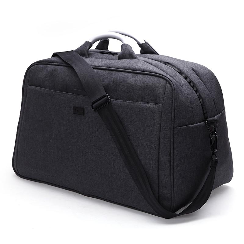 TINYAT მამაკაცები დიდი ზომის ტომარა ნეილონის Duffle handbag მოგზაურობა ქალთა მხრის ბარგი ჩანთა Totes Weekend bag 40L T305