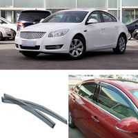4pcs Blade Side Windows Deflectors Door Sun Visor Shield For Buick Regal 2009 2013