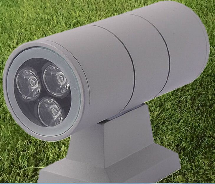 ФОТО Free shipping  hot sale LED 6W wall lamp double side up and down wall light outdoor waterproof aluminum led porch lamp