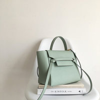 [Hely Coptar] Genuine Leather Women Bags Trapeze Crossbody Cowhide Female Bag Causal bags Epsom Mint Green Luxury Designer Good